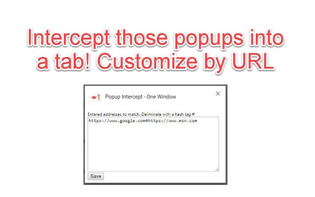 Popup Intercept - One Window