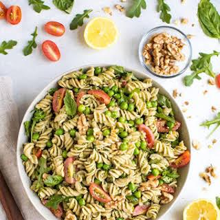 Mediterranean Diet Pesto Pasta Salad.