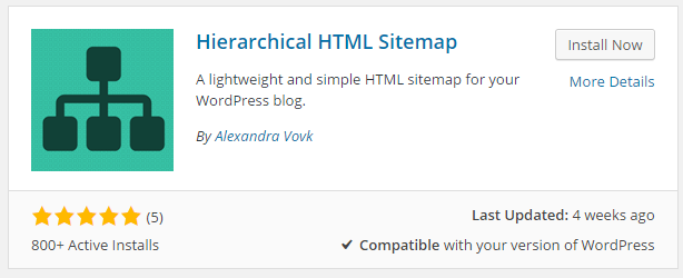 Cara Membuat Halaman Daftar isi Di Wordpress dengan plugin Hierarchical HTML Sitemap