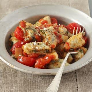 Veggie Dumplings with Tomatoes