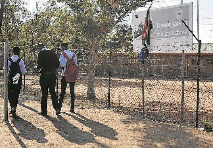 Some of the pupils from Tshepagalang Secondary School who were assaulted by young inmates after accusing them of using drugs at school.