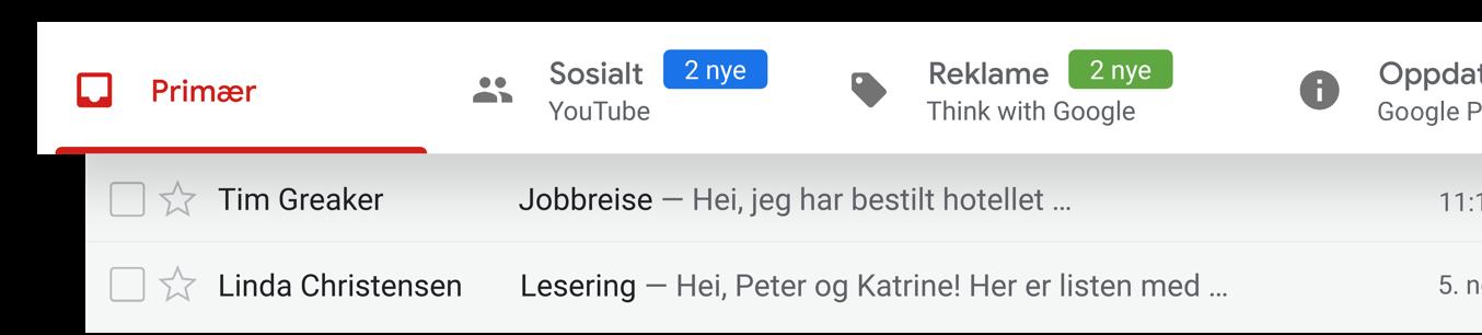 Hold orden i e-postkontoen