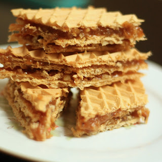 Wafers With Caramel And Nuts