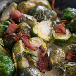 Brussels Sprouts in a Bacon Lemon Cream Sauce.