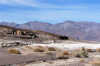 Photo: Harmony Borax Works was the central feature in the opening of Death Valley and the subsequent popularity of the Furnace Creek area. The plant and associated townsite played an important role in Death Valley history.