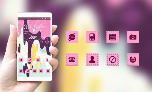 Pink Stylish Ice Cream Free Theme for Jio Phone 1.0.0 screenshots 4