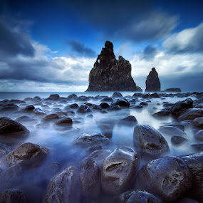 Colossus by José Ramos - Landscapes Beaches ( nd filters, nature, waterscape, long exposure, landscape, madeira, ribeira, janela )