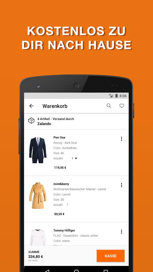 zalando fashion shopping android apps auf google play. Black Bedroom Furniture Sets. Home Design Ideas