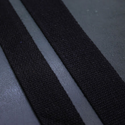 Väskband 38mm - svart