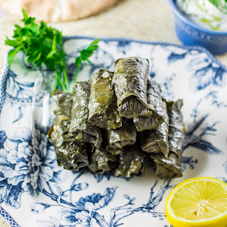 Meat & Rice Stuffed Grape Leaves