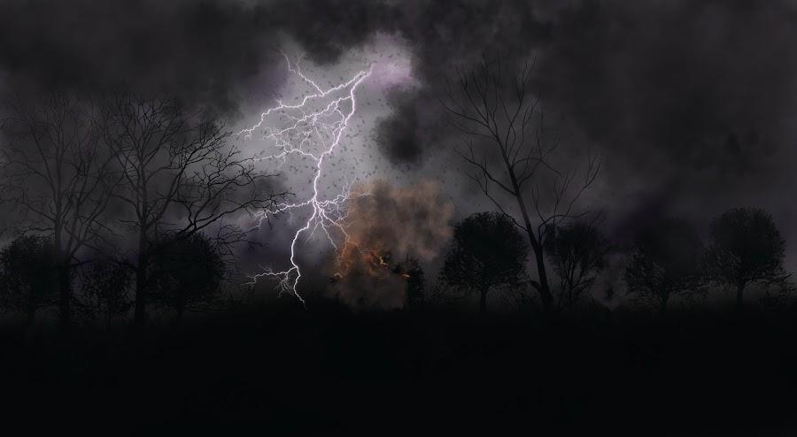 Storm by Derrick DeCorte - Digital Art Places