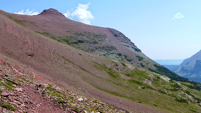 Photo: Can you see the hikers heading up the trail to the pass?