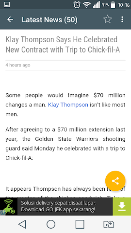 android Amazing NBA News Screenshot 2