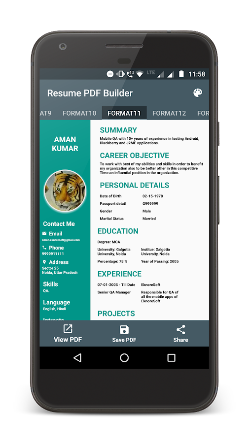 Resume PDF Maker - Android Apps on Google Play
