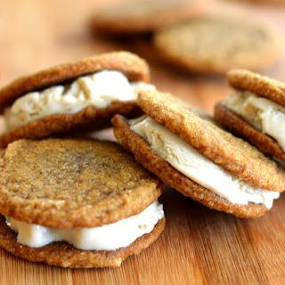 Ginger Cookie Ice Cream Sandwiches {Vegan}
