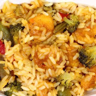 Sesame Chicken and Vegetable Stir Fry.