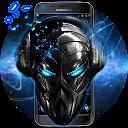 Blue Tech Metallic Skull Theme 1.1.1