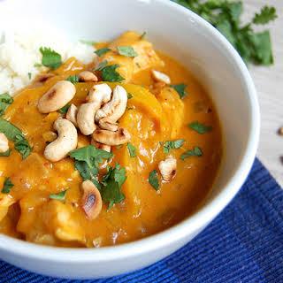 Creamy Pumpkin Curry with Chicken.