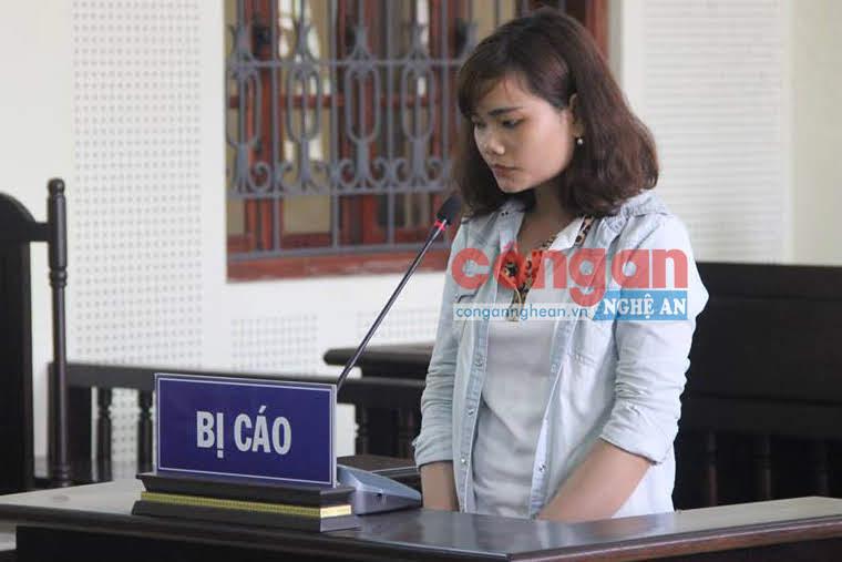 Bị cáo Vi Thị Trang tại phiên tòa