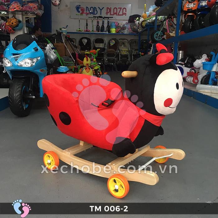 Thú bập bênh cho bé TM006-2 có bánh xe 4