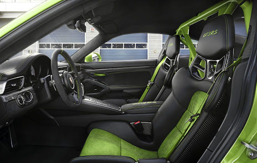 The interior has modern comforts but serious racers will go for the Clubsport package with its roll cage and other track items.