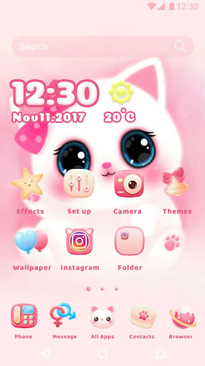Cartoon Theme - Cute Kitty 1.0.3 screenshots 1