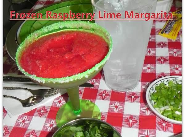 Frozen Raspberry Lime 'mock' Margaritas