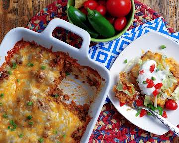 Layered Beef Enchiladas - a southern discourse
