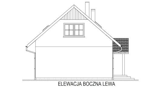Domek Lipowy 020 ET - Elewacja lewa