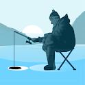 Ice fishing games for free. Fisherman simulator. icon