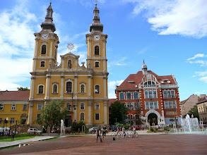 Photo: Miskolc, pěkné náměstí s fontánami