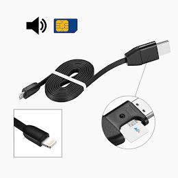 Cablu de date cu microfon GSM spion