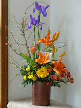 Photo: Congratulations bouquet from the church for our opening, March 2012