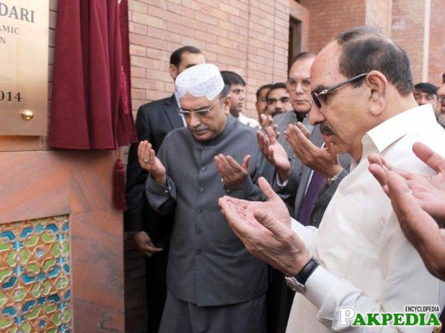 Zardari in the inauguration ceremony of Grand Mosque Lahore.