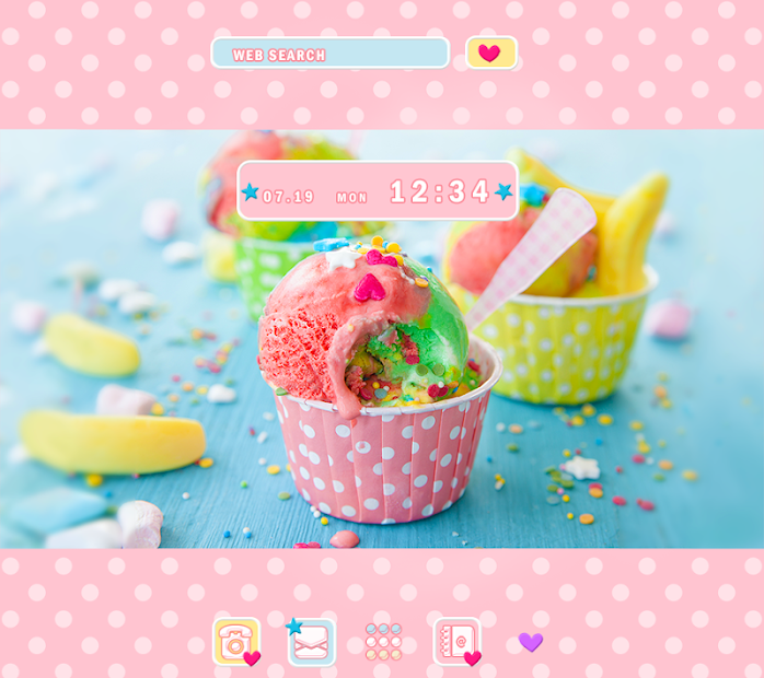 Cute Wallpaper Colorful Ice Cream Theme Android App Screenshot