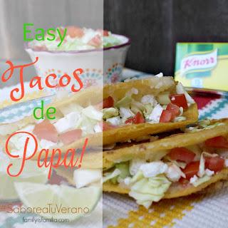 Easy Tacos de Papa