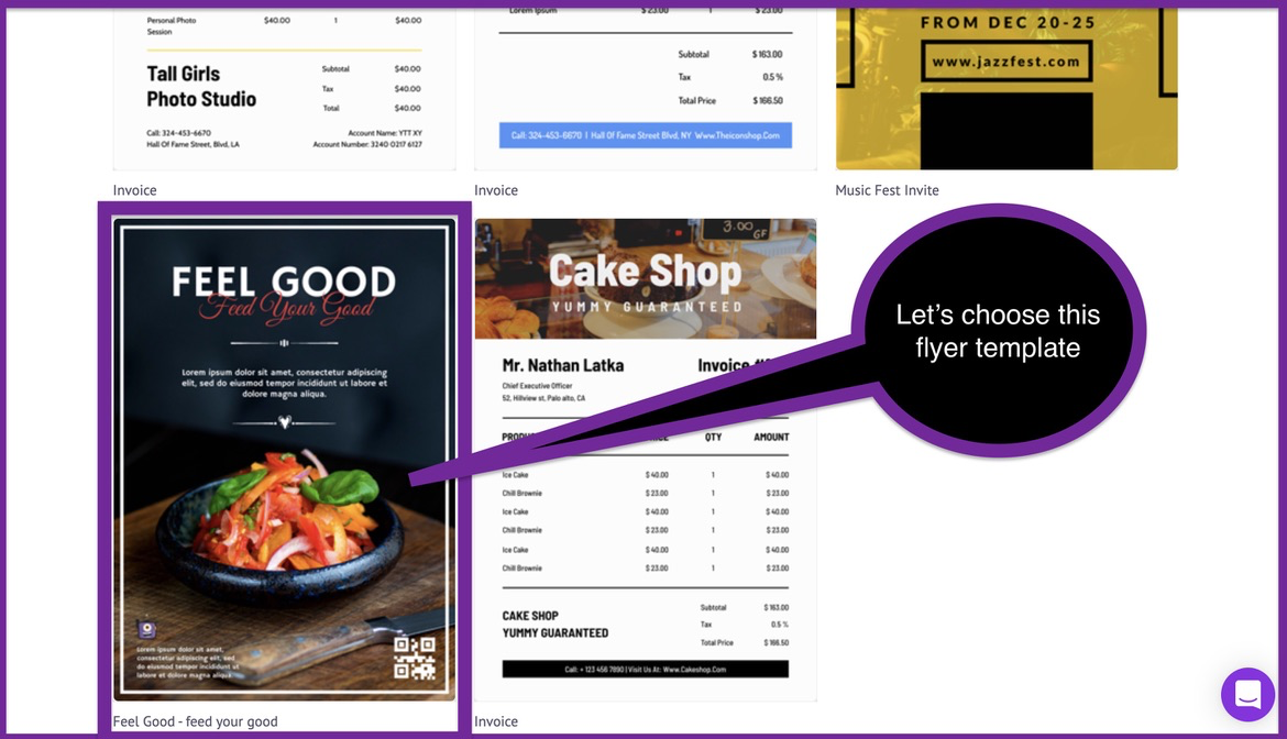 How to create a business flyer - step 2 -screenshot 3