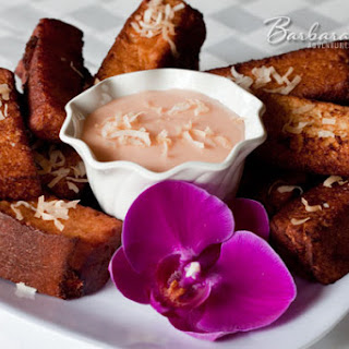 Hawaiian Sweet Bread French Toast Sticks.