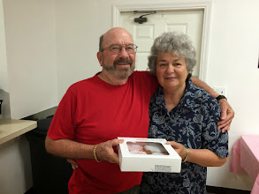 Photo: Mel and Dotti with the breakfast donuts :).