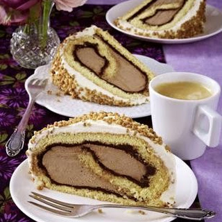 Nougat-Cappuccino-Rolle