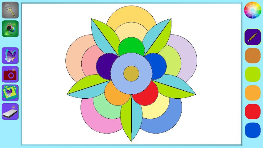 android De Stress Mandala Painting Screenshot 4