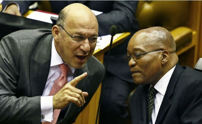 Former finance minister Trevor Manuel and President Jacob Zuma. Picture: GCIS