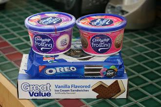 Photo: Everything we'll need to make our OREO ice cream cake.