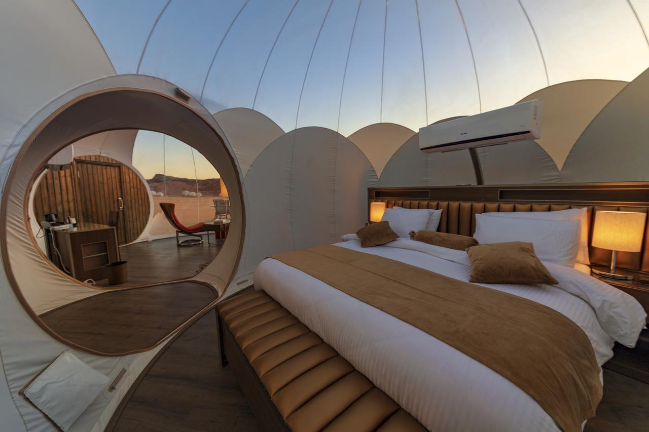 Alojamiento Wadi Rum Bubble Luxotel para dormir en el desierto de Jordania