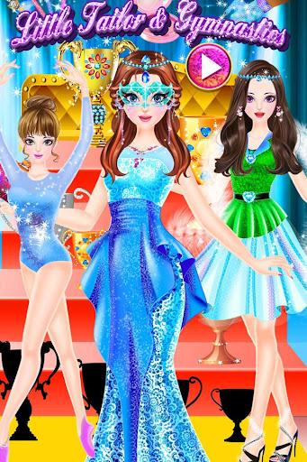 體操女孩 - 小裁縫製作體操服裝 化妝裝扮