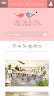 Hampshire Wedding App- screenshot thumbnail