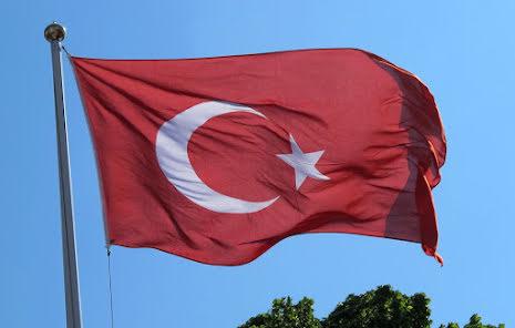 Turkiets Flagga Tryckt