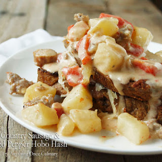 Country Sausage Red Pepper Hobo Hash