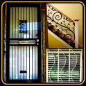 window trellis balcony steel railing balcony grill icon