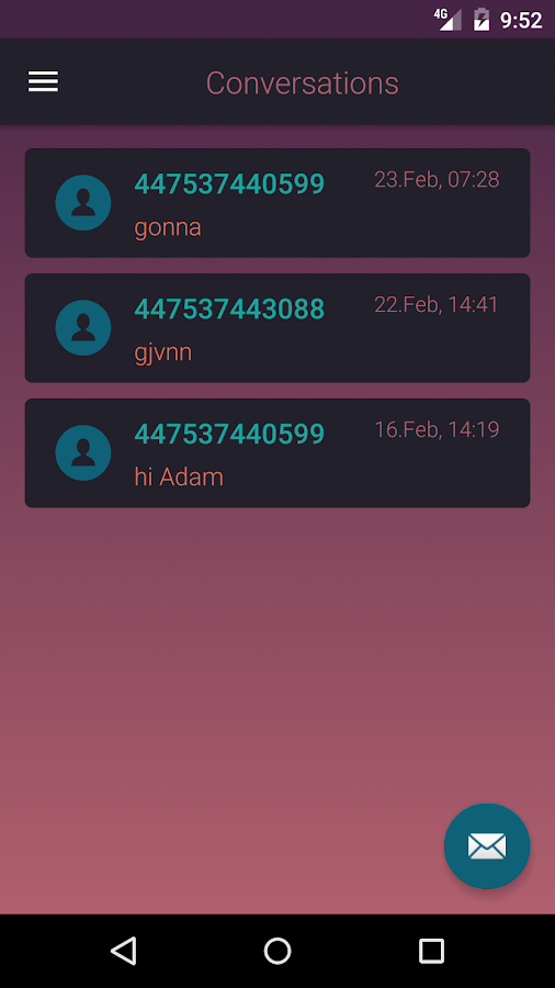 Virtual SMS- screenshot